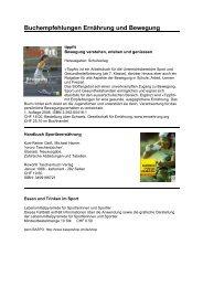 Buchempfehlungen Ernährung und Bewegung - LZ Lauftreff