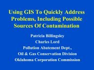 Using GIS To Quickly Locate Possible Sources Of ... - IPEC
