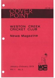 Untitled - Weston Creek Cricket Club