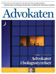 Advokaten 4 2011 som PDF - Advokatsamfundet