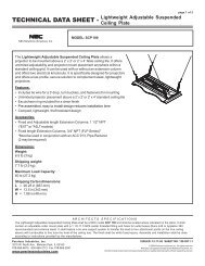 SCP100 ceiling plate technical data sheet - NEC Display Solutions