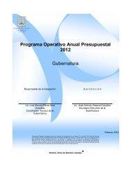 Programa Operativo Anual 2012 - Gobierno del Estado de Morelos