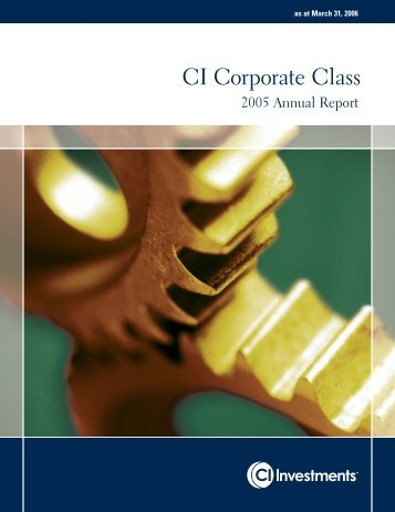CI Corporate Class - CI Investments