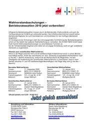 Betriebsratswahlen 2010 jetzt vorbereiten! - IG BCE - HALLE ...