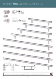 stainless steel bar handles and knobs pg54-55 - Roco