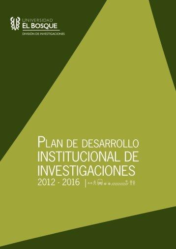 INSTITUCIONAL DE INVESTIGACIONES - Universidad El Bosque