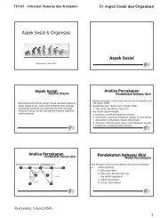 Aspek Sosial & Organisasi