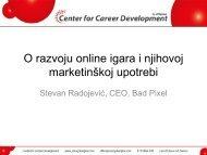 Online gaming - Razvoj karijere