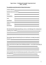 Anmeldeformular zum Herunterladen als pdf. - Kundalini Yoga ...