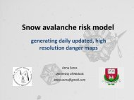 Snow avalanche risk model, generating daily updated, high ...