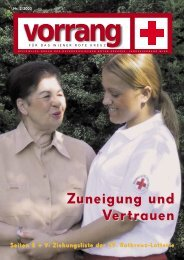 vorrang - Rotes Kreuz