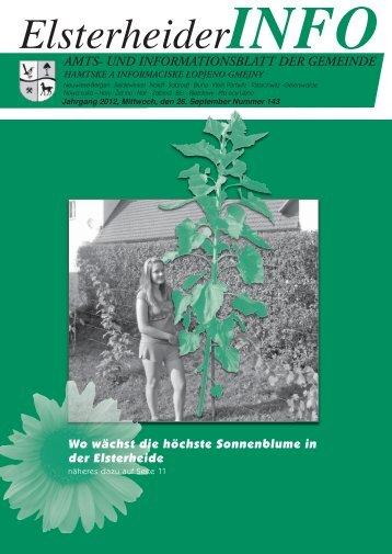 ElsterheiderINFO - Gemeinde Elsterheide