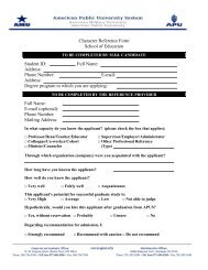 School Counseling Character Reference Form