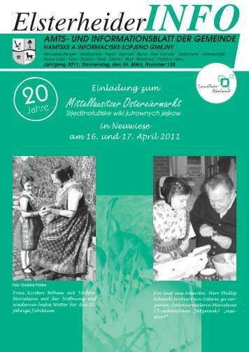 und informationsblatt der gemeinde - Gemeinde Elsterheide