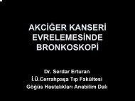 AKCİĞER KANSERİ EVRELEMESİNDE BRONKOSKOPİ