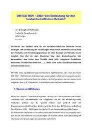 DIN ISO 9001 : 2000: Von Bedeutung für den ... - Boku