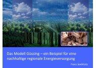 Das Modell Güssing – ein Beispiel für eine nachhaltige ... - IRENA