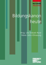 Bildungskanon heute - Bibliothek der Friedrich-Ebert-Stiftung