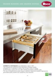Drawer runners and drawer systems - Roco