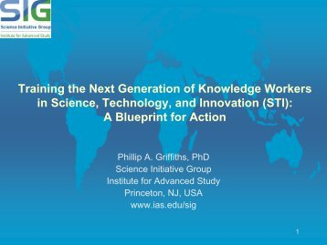 Training the Next Generation of Knowledge Workers in STI - Science ...