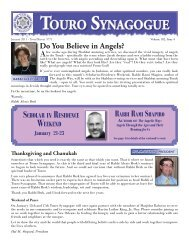 for web January Bulletin 2011.indd - Touro Synagogue