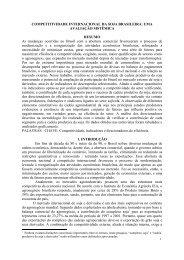 COMPETITIVIDADE INTERNACIONAL DA SOJA ... - SOBER