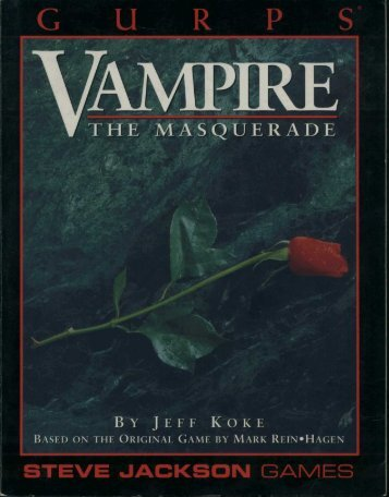 GURPS - Vampire the - Index of
