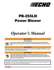 PB-255LN Operator's Manual - Echo Inc.