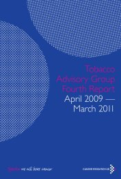 Tobacco Advisory Group Fourth Report - Cancer Research UK