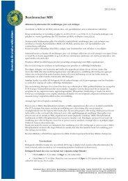 Bestämmelser MH - Svenska Rottweilerklubben / AfR