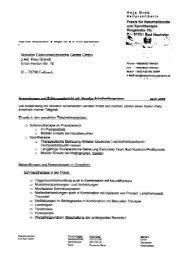 Praxis für Naturheilkunde und Sporttherapie, Bad ... - Novafon GmbH