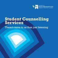 About Student Counselling - University of Wolverhampton