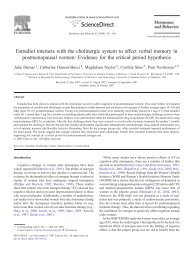 Estradiol interacts with the cholinergic system to affect verbal ...