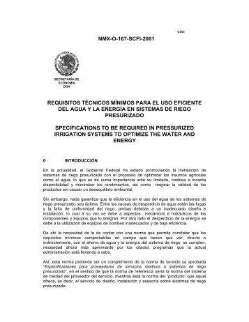 NMX-O-167-SCFI-2001 REQUISITOS TÉCNICOS MÍNIMOS PARA ...