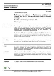 NORME DE SECTEUR Produits de peinture ... - JefcoSylco