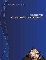 ACTIVITY BASED MANAGEMENT - Salient