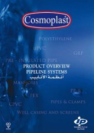Cosmoplast Product Overview Pipeline Systems - AEC Online