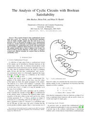 The Analysis of Cyclic Circuits with Boolean Satisfiability