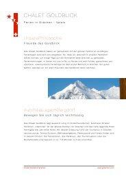 Prospekt Goldblick - PDF - Chalet Goldblick