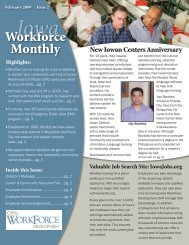 Iowa Workforce Monthly - Iowa Workforce Development