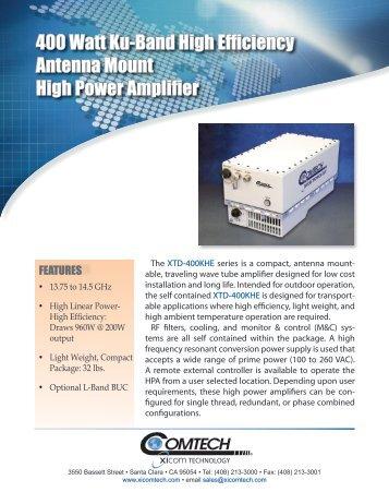 400 Watt Ku-Band High Efficiency Antenna Mount High Power ...