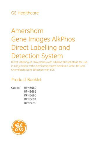 Amersham Ecl Prime Specifications
