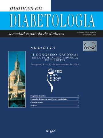 avances en - Sociedad Española de Diabetes