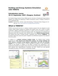 What is TRNSYS? - Scottish Energy Systems Group - University of ...