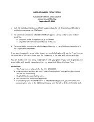 Instructions and Proxy Voting Form 2013 - Canadian Treatment ...