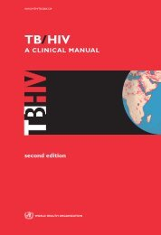 TB/HIV: a clinical manual - libdoc.who.int - World Health Organization
