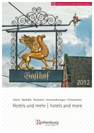 Hotels und mehr | hotels and more - Rothenburg ob der Tauber