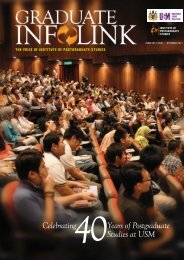 Years of Postgraduate Studies at USM Celebrating - Institute of ...