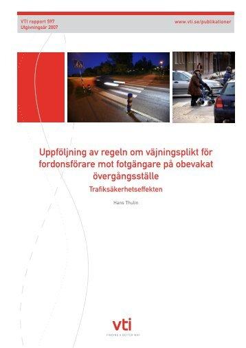 Uppföljning av regeln om väjningsplikt för fordonsförare mot ... - FOT