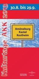 Kulturtage AKK (PDF | 1,45 MB) - Landeshauptstadt Wiesbaden